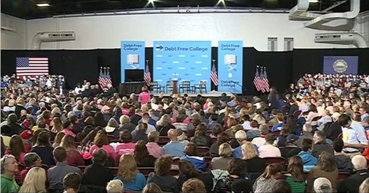 Most Attendees Of Hillary Speech To College Students 'In Their 50s Or 60s'
