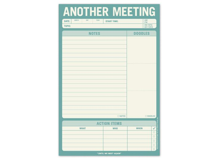 Another Meeting Pad: Knockknock,  Internet Site, Meeting Notepad, Note Pads,  Website, Web Site, Meeting Pads, Knock Knock, Offices Supplies