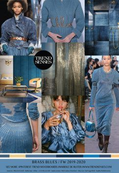 TRENDSENSES MOODBOARD – BRASS BLUES – FALL /WINTER 2019-2020