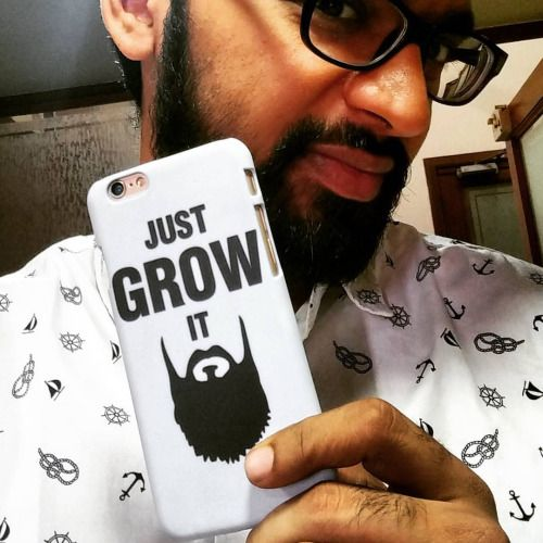 "Flaunting the ""Just Grow It Phone Case"" from www.madanyu.com Get yours now!"