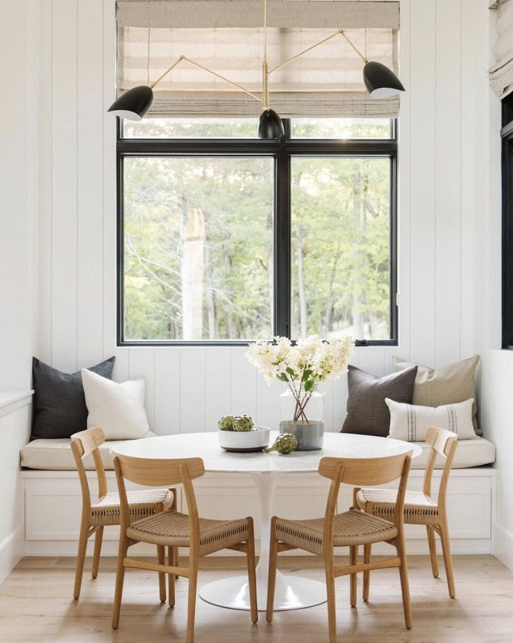 Kitchen Nook With Bench Seating And Round Table Kitchen Nook Dining Room Storage