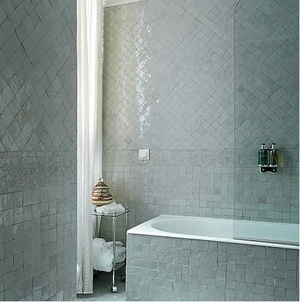 I love how the zellige, Moroccan hand-cut tiles create such a lovely geometric…