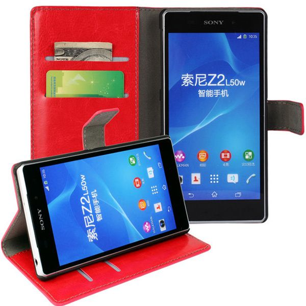 New Case - Red Sony Xperia Z2 Luxury Leather Wallet Stand Case Cover, $14.95 (http://www.newcase.com.au/red-sony-xperia-z2-luxury-leather-wallet-stand-case-cover/)