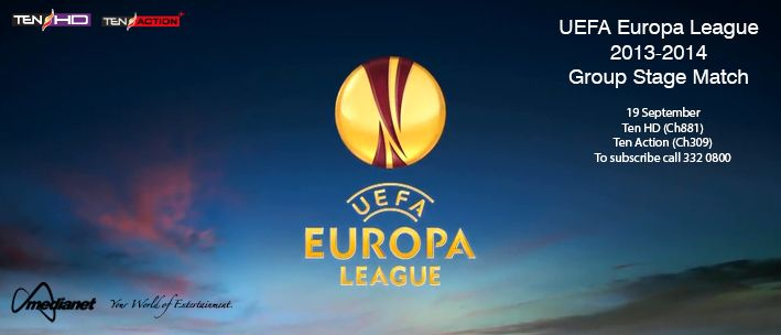 UEFA Europa League 2013/14 Group Stage - Thursday, 19 September on Ten HD (Ch881) & Ten Action (Ch309)