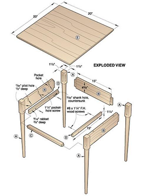 plans for wood furniture on Pinterest | Desk plans, Woodworking plans ...