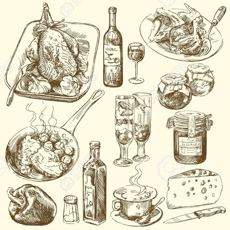 élelmiszer-gyűjtemény Royalty Free Clip Artok, Vektorokt és Stock Illusztrációk…