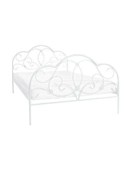 Romantisches Metallbett Creme-Weiß Bett Metall 90/140/160/180 x 200 cm