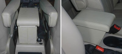 FREELANDER 2 (2007-2012) Cubby box with large storage in storm Italian Real leather (for Freelander 2 with original armrests at the sits)