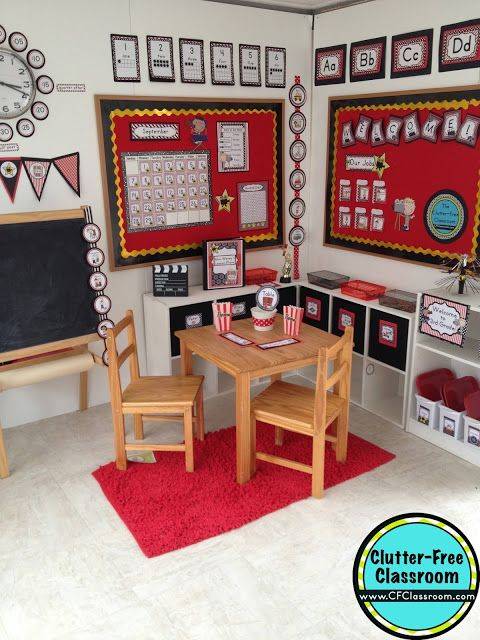 Red Classroom Decor : Best images about hollywood classroom theme on