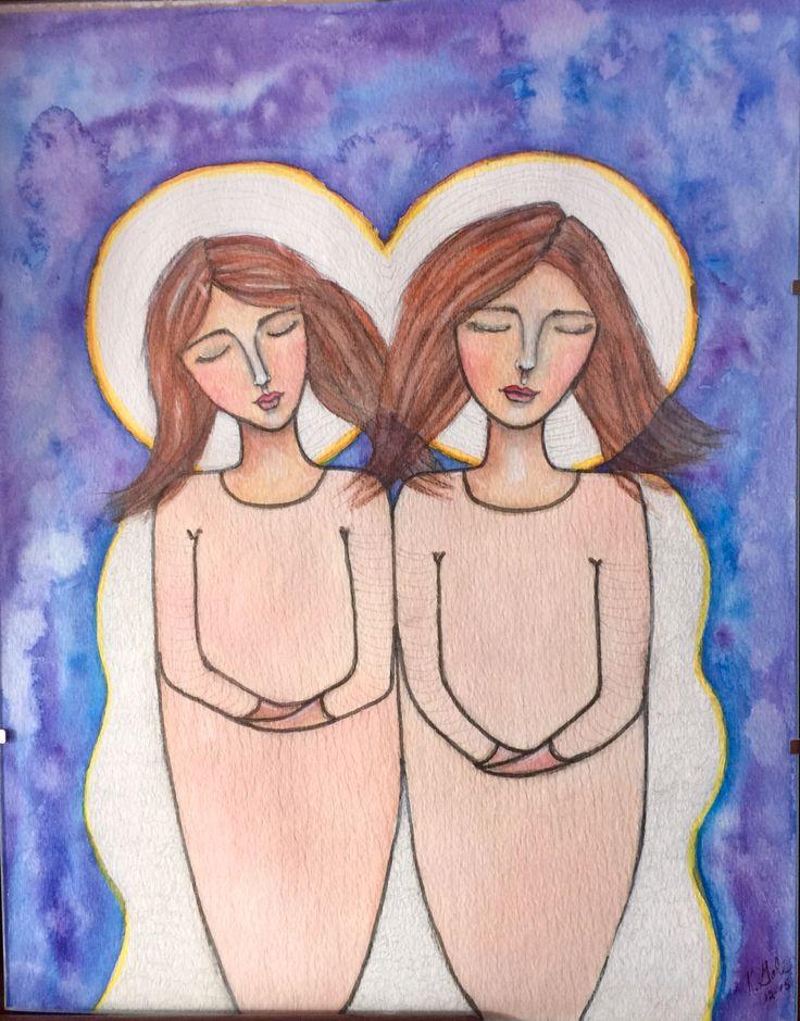 I like drawing Angels by KatGale