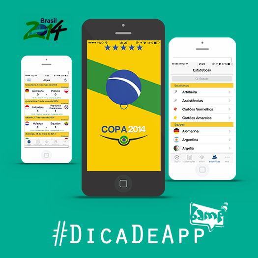 #DicadeApp World Soccer Finals é um app para quem acha que #VaiTerCopa, sim! Ele permite que você veja o calendário de jogos, resultados, formação de equipes, informações sobre as cidades, estádios e outras curiosidades. #VemGente #Copa #App #Futebol #BampDM