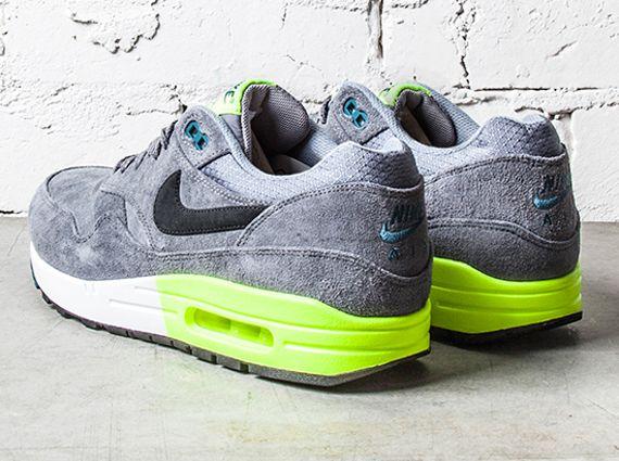 Nike Air Max 1 Premium   Grey   Volt   Green
