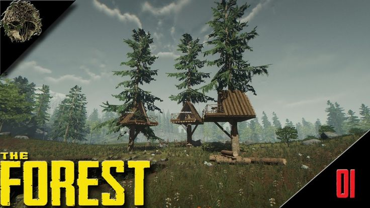 Epic Tree House Build- The Forest Multiplayer #1