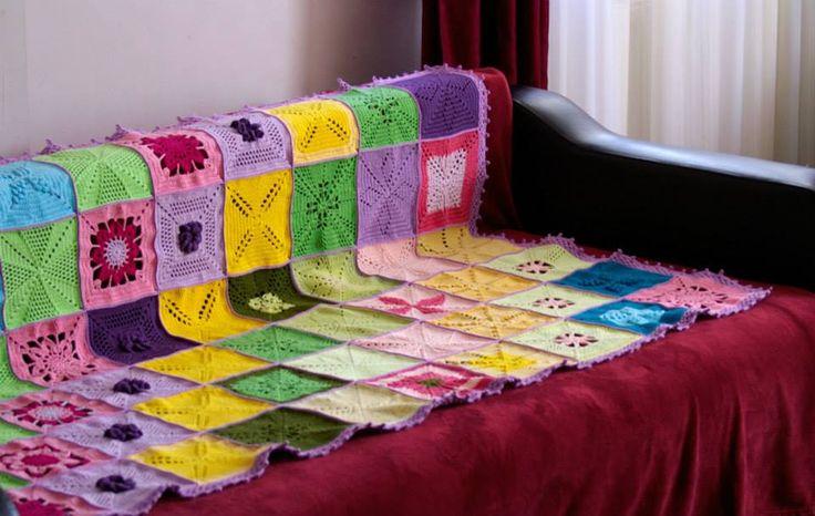 Patura crosetata Crocheted blanket