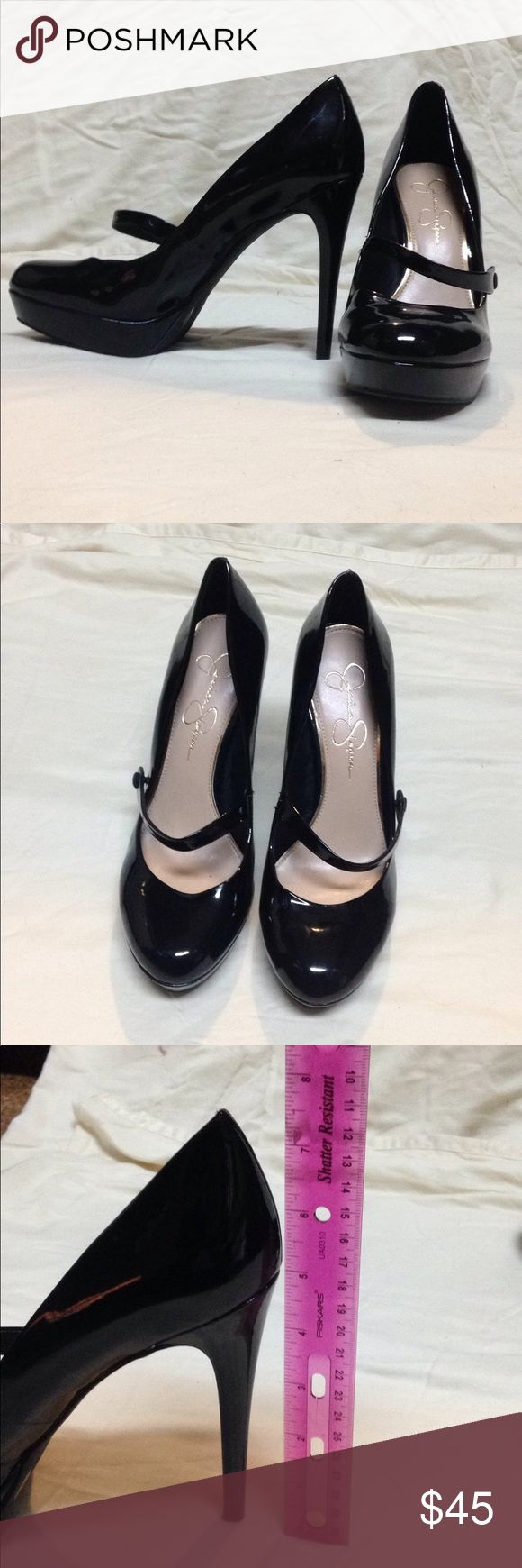 Jessica Simpson black pumps make an offer Black  Straps  9.5 Jessica Simpson Shoes Heels