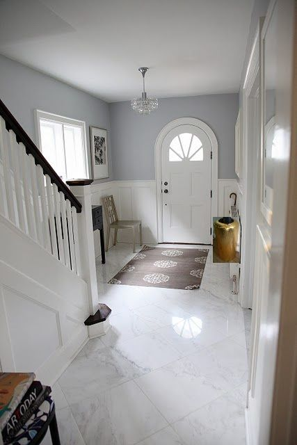 Foyer Floor Adore This   Grey U0026 White Looks So Classy And Cheerful. The  Colour Is Very Similar To The One Weu0027ve Used In Our Main Living Area. Part 53