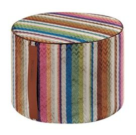 Ravenna Cylinder Pouf  Contemporary, Upholstery  Fabric, Miscellaneou by Missoni Home