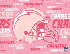 Pink Charger Bolt | Pink Helmet San Diego Chargers