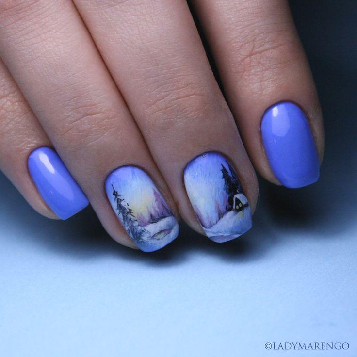 #geeknails #ladymarengo #шеллак #гельлак #нейларт #ногти #маникюр #дизайнногтей #nailart #naildesign #nails #winter #зима