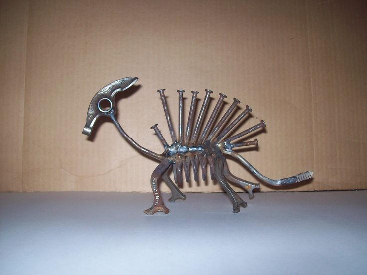 Darwin-isum! Made by J.R.Hamm Created from recycled scrap metal #tiny #new #creatures