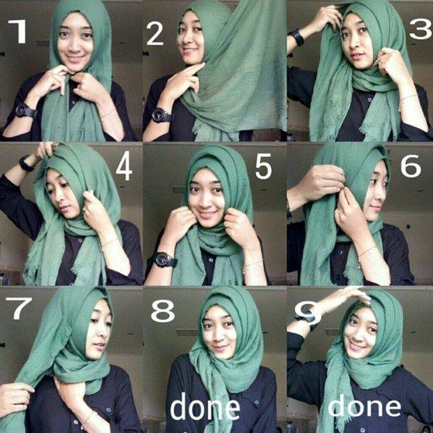 Tutorial Hijab Kebaya Tanpa Ninja Hijab Model Gambar