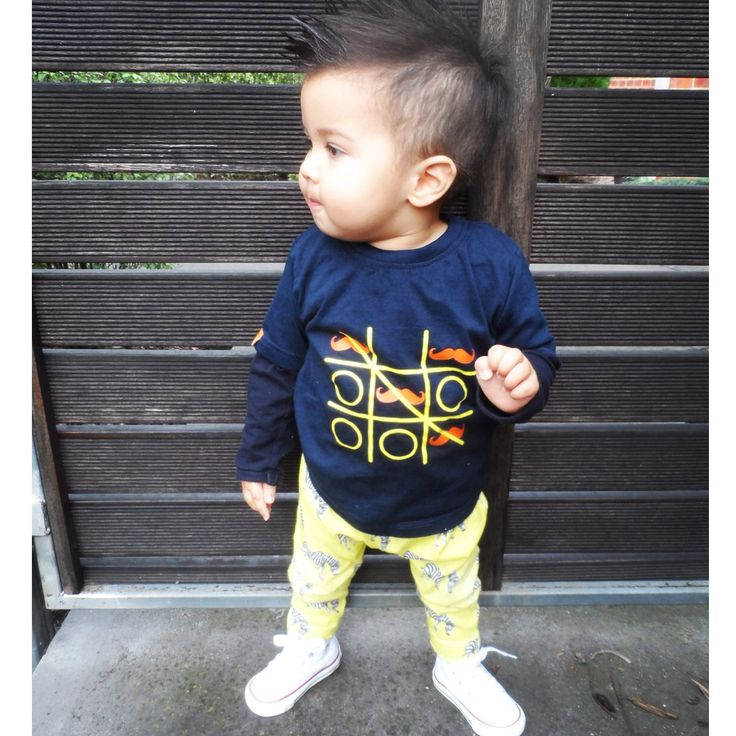 "HIPSTER | Über cool petit Quinn rocking our ""Tic-Tac-Toe"" tee in navy, @cheekychickadeestore #zebra leggings & funky #converse!!We are so in love with his #mohawk & his style @mummyfashionblogger  #cool#cute#organic#tees#tshirts#boys#boysstyle#kids#kidsstyle#fashion #designer#sydney#french#hipster#hipsterkids#kidsfashion#mômes#handcrafted#fashionkids#postmyfashionkid#funky#momes#moustache#instatoddler#streetfashion#ikfashion#fashionkids#kidzfashion#instatoddler"