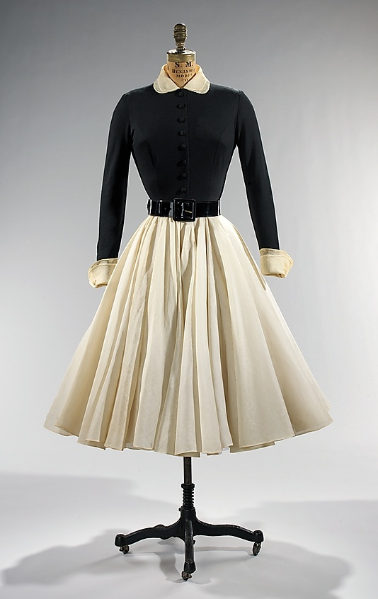 Dress, Dinner  Traina-Norell  (American, founded 1941)  Designer: Norman Norell (American, Noblesville, Indiana 1900–1972 New York City) Date: 1951 Culture: American Medium: wool, cotton
