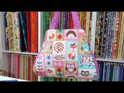 Bolsa em tecidos Roxanne II - Maria Adna Ateliê - Aula de bolsa em tecidos - Bolsas tecido - YouTube