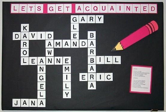 Crossword Bulletin Board bulletin-board-ideas-i-love