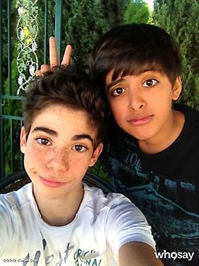 Karan Brar And Cameron Boyce Hanging Out Today (October 25, 2012)