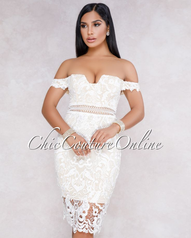 Chic Couture Online - Fiyona White Off The Shoulder Crochet Mini Dress,  (http://www.chiccoutureonline.com/fiyona-white-off-the-shoulder-crochet-mini-dress/)