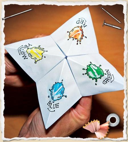Paper fortune teller (origami)