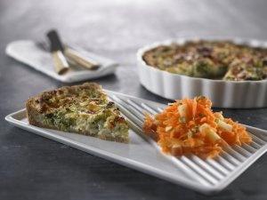 Broccoli-løg-tærte