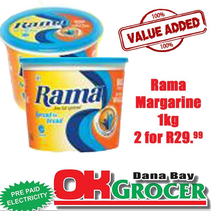 Rama Margarine 1kg - 2 for R29.99! While stocks last