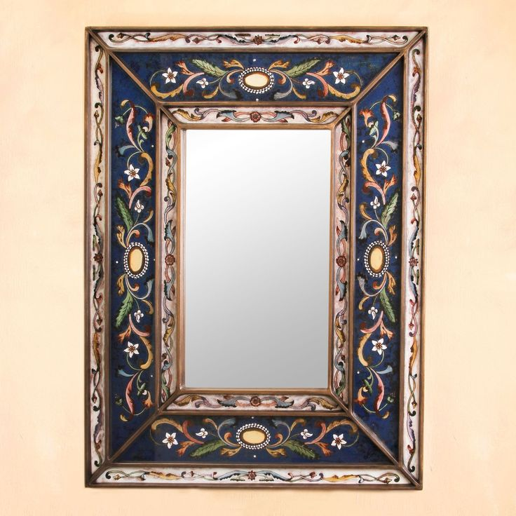 25 best ideas about painted mirror frames on pinterest for Unique wall frames