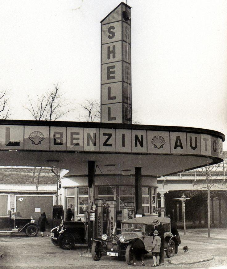 Berlin: Tankstelle am Bahnhof Charlottenburg, 24. September 1929