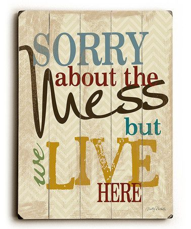 Look what I found on #zulily! 'Mess' Wood Wall Art by ArteHouse #zulilyfinds