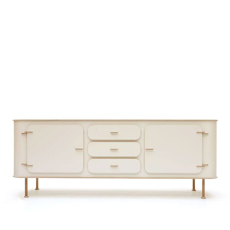 Wide Sideboard Tube Feet With Drawers