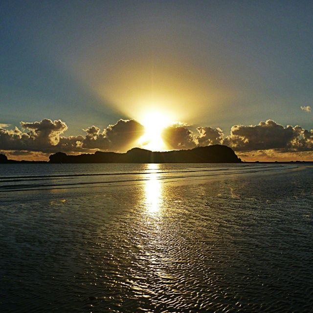 Sunrise at Cape Hillsborough.