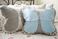 DIY Felt Butterfly Pillow