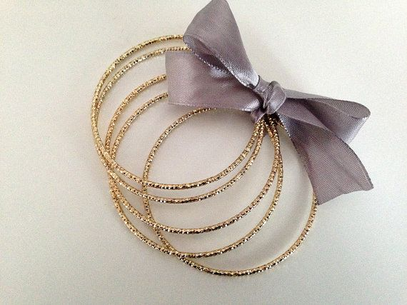 5 Pcs Golden Bangles Bracelet Blank Finding by HabitHobby on Etsy