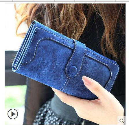 New Arrive 2016 Fashion Retro Matte Stitching Wallet Women Brand Long Purse Clutch Women Casual Hasp Dollar Price Wallet Handbag *** You can get more details by clicking on the image.