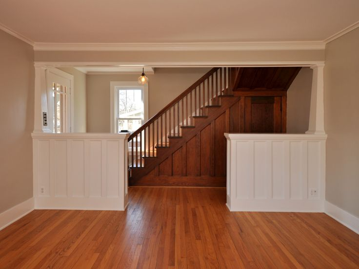 Interior Foyer Columns : Best images about craftsman halfwall on pinterest