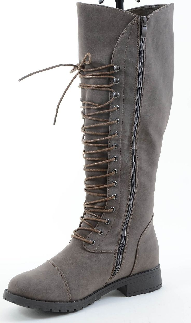Stay fashionable during the new season in these stylish Knee-high boots. These boots feature vegan leatherette material and a zip up side. - Material: Leatherette (man-made) - Material: Vegan Leathere