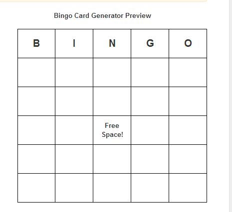Best  Free Bingo Card Generator Ideas On   Free Bingo