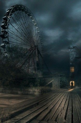 Abandoned amusement park -- spooky