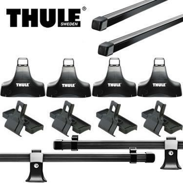 Honda Civic SI Thule Traverse Square Bar Base Roof Rack '06-'12