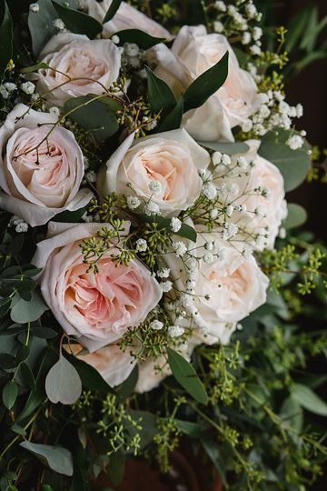 Eucalyptus And Rose Bouquet Photo From Joelle Brent Married
