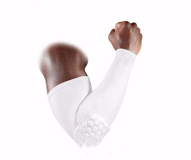 1pcs arm sleeve honeycomb armband elbow support Basketball Arm Sleeve Breathable Football Safety Sport Elbow Pad brace protector