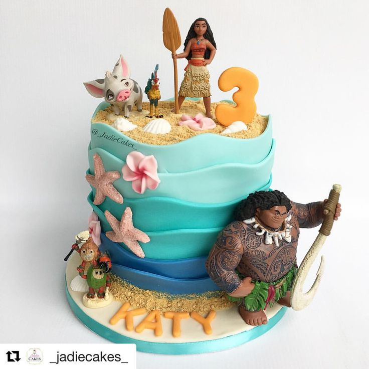 "1,308 Likes, 4 Comments - Christines Molds (@christinesmolds) on Instagram: ""#Repost @_jadiecakes_ ・・・ Moana personal cake and cupcakes with edible images My client…"""